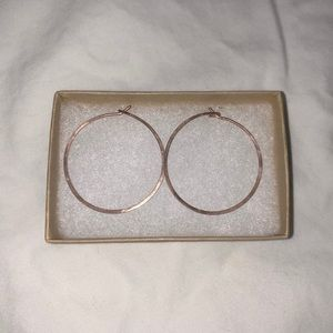 Jewelmint Jewel Mint Rose Gold Hoop Earrings